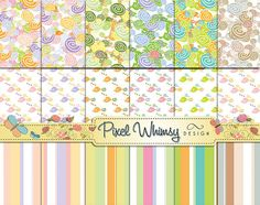 Pastel Digital Papers and Journal Cards  by PixelWhimsyDesign, $4.00