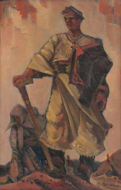 Martin Benka - V spurnom kroku, 1945 Graphic Art, Illustration Art, Tapestry, Artist, Painting, Hanging Tapestry, Tapestries, Artists, Painting Art