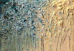 Cuchillo paleta moderna paisaje flor abstracta por OsnatFineArt