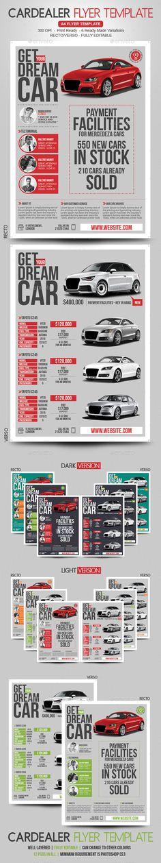 Web Hosting Flyer Marketing flyers - car for sale flyer template