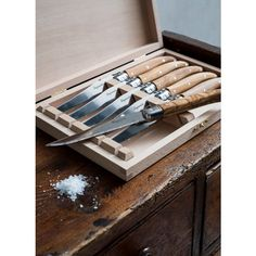 Olive Wood Laguiole Steak Knife Set> Buy Online at The Handpicked Coll | The Handpicked Collection