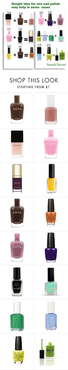 """mixing nail polish"" by samahdasan ❤ liked on Polyvore featuring beauty, Essie, Dolce&Gabbana, OPI, Barry M, Lauren B. Beauty and JINsoon"
