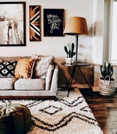 Other Scandinavian living room design ideas might include the balance between an inside and outdoor spaces. Let us show you some Scandinavian living room design ideas for you to get the gist of it and, who knows, find your new living room décor. Cute Living Room, Living Room Decor, Ethnic Living Room, Living Area, Cozy Living, Gray Couch Living Room, Bohemian Living Rooms, Living Room Inspiration, Home Decor Inspiration