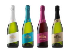 """The identity and packaging redesign for Maria Rigol Ordi, a familiar wine  and cava cellar based in Sant Sadurní d'Anoia, is full of color. The  redesign was created byAtipus.      """"In order to stand out among their rivals, we decided to use blue as an     atypical color for their mid-range Reserva and one of their most     singular products. White was the chosen color for the low end Brut     Nature and black & gold for the Gran Reserva, their most expensive     product. Finally, purple…"""