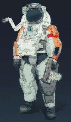 Astronaut Drawing, Astronaut Illustration, Character Illustration, Cyberpunk Character, Cyberpunk Art, Character Concept, Character Art, Concept Art, Illustrator