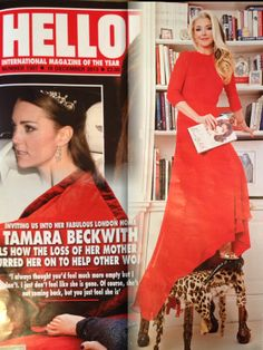Tamara Beckwith in Hello! wearing Beulah……