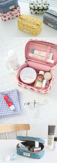 JAM JAM Cosmetic Pouch is wonderful! It's cute and colorful, and can hold all my items in the spacious compartment! Double zipper access makes it super easy to use my items, and is really perfect for storing my cosmetics or crafting supplies!