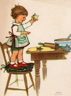 Vintage Christmas Card!  Very Cute