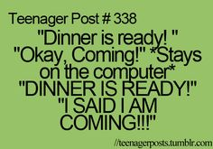 """and then... *walks downstairs* """"alright where's dinner"""" """"it's in the oven"""" """"ARE YOU JOKING?!?"""" Post Quotes, Teen Quotes, Teenager Quotes, Funny Quotes, Teen Posts, Teenager Posts, Fangirl, Memes, Funny Pins"""
