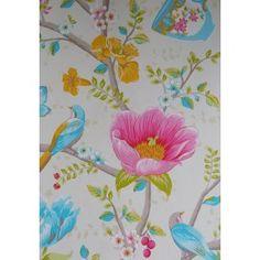 40€  Pip Studio III behang Chinese Garden White 341000 bij Behangwebshop