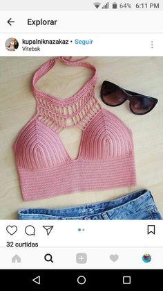 Best 12 🔥Descubra Como Milhares De Pessoas Estão Fazendo Incríveis Peças de Crochê Apenas Seguindo Gráficos . 👚Croche Passo a – SkillOfKing.Com Gilet Crochet, Crochet Bikini Pattern, Crochet Romper, Crochet Halter Tops, Crochet Bikini Top, Diy Crochet, Crochet Clothes, Crochet Woman, Crochet Summer Tops