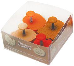 R & M International 492 Pastry/Cookie/Fondant Stamper, 3-Inch, Thanksgiving - Turkey, Acorn, Pumpkin, Oak Leaf R&M