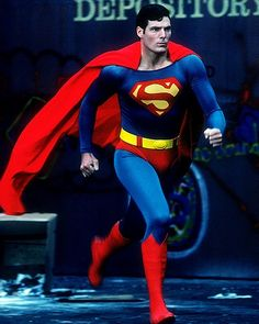 Christopher Reeve playing one of the most powerful iconic beings in the fictional universe.