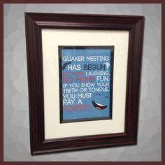 Quaker Meeting Quote Framed Art (cherry)  http://www.quakergear.com/product/wall-art-quaker-meeting-cherry/