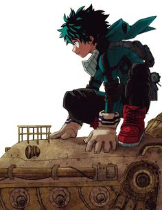 boku no hero academia or My Hero Academia. This is a really fun battle comedy manga, Izuku Midoriya was born in a world where everyone develops superpowers by the age of four. he's exceptionally unexceptional. he's been made fun of all his lif My Hero Academia, Boku No Academia, Hero Academia Characters, Anime Characters, Manga Anime, Manga Art, Anime Art, Chibi, Fanart