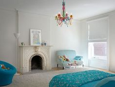 great teenager room, also a lot of other amazing examples of the combination of modern with vintage