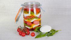 Conserves maison - Tomates mozzarella àl'huile d'olive