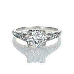 WOW!!! Love this ring! Leigh Jay Nacht Inc. - Replica Art Deco Engagement Ring - 2698D-05