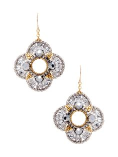 Pyrite & Miyuki Drop Earrings