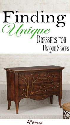 A collection of some of the most delightful dressers. These gorgeous & unique dressers can go practically anywhere in the home. #furniture #dressers #design #decor #interiordesign #home https://art-and-home.net/unique-dressers-unique-spaces/