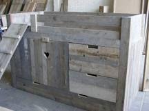 Steigerplanken hoog bed van steigerhout