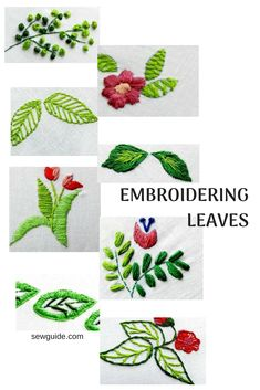 15 Different ways to embroider leaves