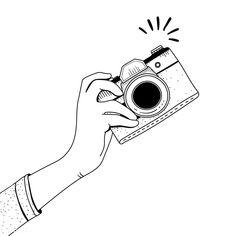 Buy Devices by Rawpixel on PhotoDune. Illustration of vintage camera Camera Clip Art, Camera Drawing, Cool Art Drawings, Easy Drawings, Drawing Sketches, Camera Cartoon, Camera Illustration, 2 Clipart, Camera Logo