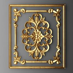 Lesser Seen Options for Custom Wood Interior Doors Baroque Frame, Baroque Decor, 3 D, Wood Carving Designs, Wall Molding, Moldings, 3d Models, Luxurious Bedrooms, Ceiling Design