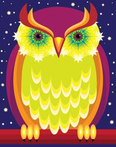 Owl Illustration by Suzanne Carpenter, represented by Artist Partners