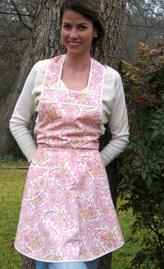 Flirty Everyday Housewife Apron - Pretty in Pink - Next SIze Up. $34.00, via Etsy.