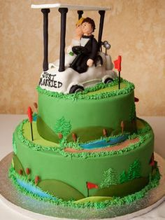 Best creative golf grooms cake ideas you can try on your wedding 11 Golf Themed Cakes, Themed Wedding Cakes, Golf Cakes, Golf Grooms Cake, Groom Cake, Grooms Table, Groomsman Cake, Groomsmen, Wedding Cake Designs