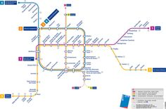 Plan de métro de Bruxelles