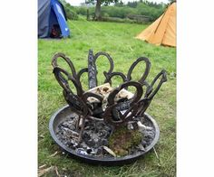 Horse Shoe Fire Pit - Need someone who can make us this for the Garden's silent auction!