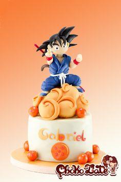 Son Goku - Dragon Ball All made with modeling chocolate My Dream Cake, Love Cake, Cupcakes, Cupcake Cakes, Modeling Chocolate Figures, Dragonball Z Cake, My Birthday Cake, Birthday Ideas, Birthday Gifts