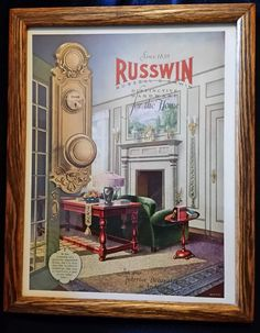 1927 Ad Russwin Russell Erwin Hardware Home Interior Design Hare Fireplace Vintage Room, Vintage Decor, Vintage Advertisements, Vintage Ads, Vintage Stuff, Vintage Items, 1930s Home Decor, Decorative Door Knobs, 1920s House