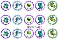 Freebies: Free Monsters Inc bottle cap images