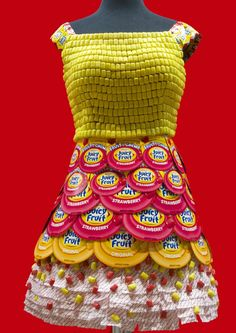 Juicy Fruit Candy Wrapper Dress made by Candyality for the Sweets and Snacks Expo in Chicago | Sweeterville.com