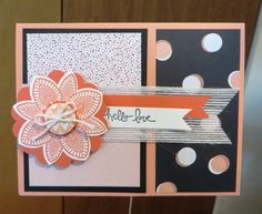 A cute card from this months Kismet class using Stampin' UP!'s Petal  Potpourri stamp set.  See my blog for more info: www.stampingjourney.com.