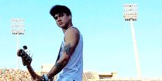"Oh my god...Calum just has the look if a really hot girl just walked by and he has the ""not bad"" expression"