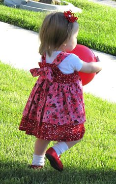 Valentine Toddler Girls Dress  Boutique  Twirl by pixieharmony, $32.95