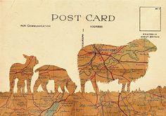 map art, postcard design
