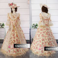 Ivory Red Floral Lace 3/4 Long Sleeve Southern Belle Wedding Ball Gown SKU-301044