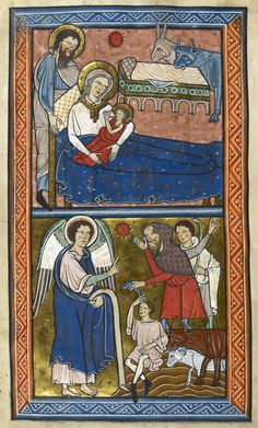 Interesting bed details from an early 13th c. English Psalter (Royal 1 D. x f…