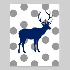 Polka Dot Deer  11x14 Nursery Art Print  Kids Wall Art  by Tessyla, $25.00