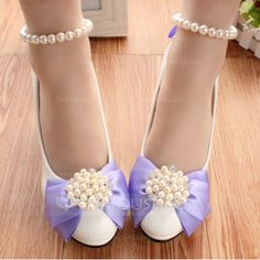 38a42ff6f Women's Closed Toe Pumps Stiletto Heel Leatherette With Imitation Pearl  Flower Wedding Shoes