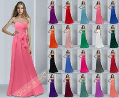 Length Evening Prom Gown Party Formal Dress Bridesmaid Dresses Size 6 8 10 12-26