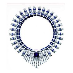 The breathtaking 1936 Cartier diamond and sapphire necklace - sent by @Jeannie Sigafoos