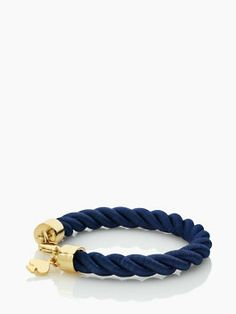 learn the ropes thin bracelet Kate Spade <-- Would love to mix this with gold bracelets for dressed up casual