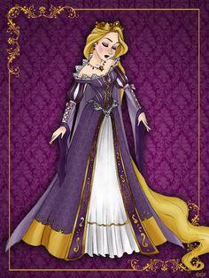 Queen Rapunzel - Disney Queen designer collection by GFantasy92.deviantart.com on @deviantART