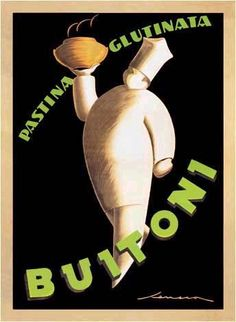 The world of advertising was kicking into high gear when Art Deco hit. Most advertising wasn't Art Deco, but it provided opportunities for some great art as shown by this Buitoni Pasta advertisement by Frederico Seneca.